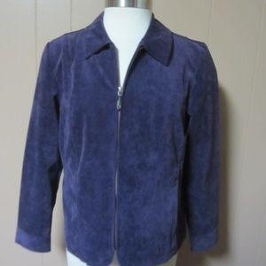 CHRISTOPHER & BANKS Zip Up Purple Jacket Petite S